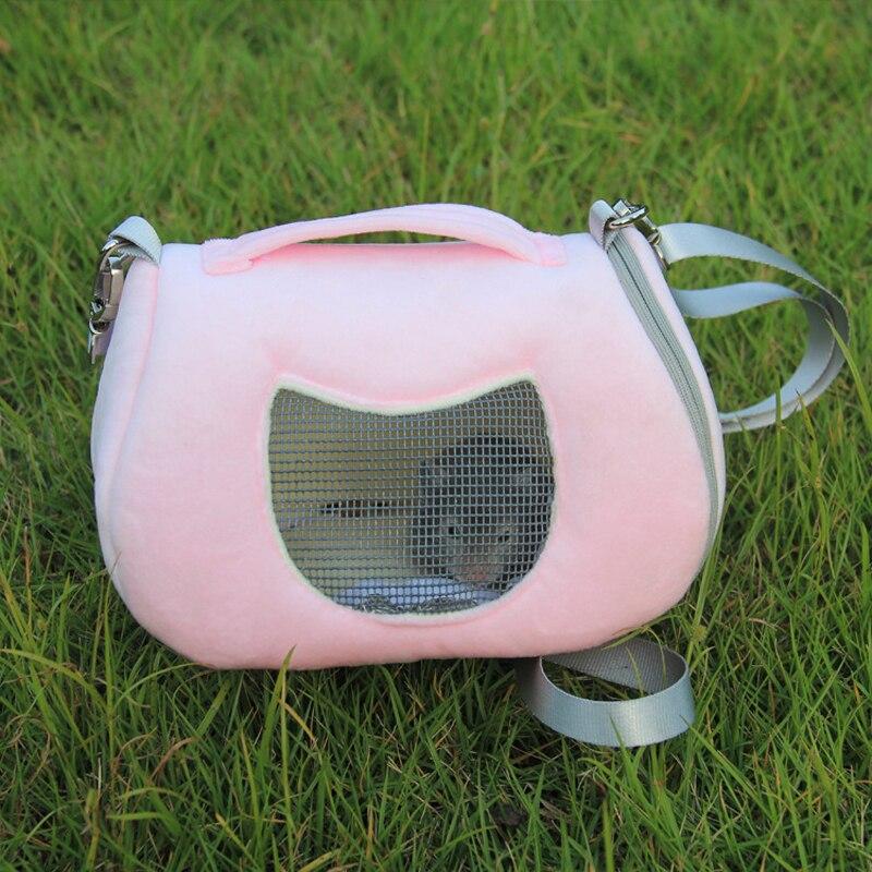 Warm Smile Face Breathable Hamster Habitat Hedgehog Cage Travel Outdoor Portable Carrying Squirrel Carrier Shoulder Bag