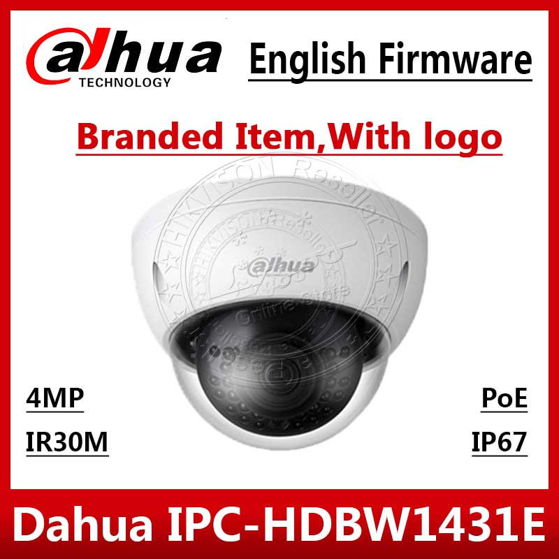 Dahua IPC HDBW1431E 4MP POE IP camera H.265 IP67 IR 30m DWDR English Version Security network Camera replace IPC HDBW4433R S-in Surveillance Cameras from Security & Protection