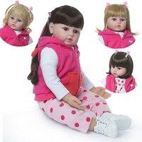 Reborn baby Girl Dolls 1948cm NPK soft silicone reborn babies dolls real alive newborn toddler reborn bebe boneca reborn gift t