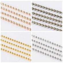100 m/rolka 1.5mm żelaza Ball paciorek łańcuchy dla naszyjnik bransoletka tworzenia biżuterii regulowany ołowiu i niklu antyczny brąz kolor