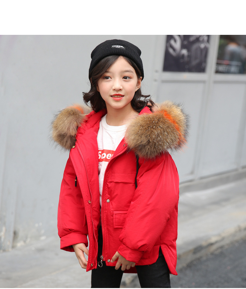 купить Winter Jackets for Girl Warm Coat Kids Clothes Snowsuit Outerwear & Coats Children Clothing Baby Fur Hooded Jacket Infant Parkas по цене 3019.09 рублей