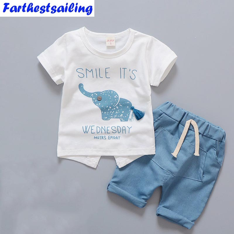 Newborn Baby Boy Clothes Summer Infant Clothing Short Sleeved T-shirts Tops Striped Pants Kids Bebes  SuitsToddler Outfits Set easy guide to sewing tops and t shirts skirts and pants