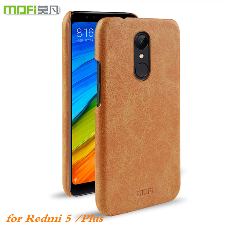 MOFI Original Case for Xiaomi Redmi 5 Plus Case Hard Back Cover PU Leather Xiomi 5 Housing Perfect Touch Capa Coques