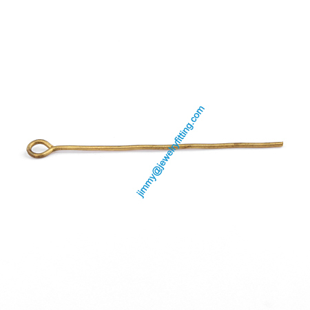 Jewelry Making findings Eye Pins  Brass Pins Scarf Pins findings 0.7*35mm