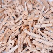 100 шт./пакет Цвет DIY мини фото небольшой деревянная прищепка Творческий Снэк кофе Уплотнение Клип