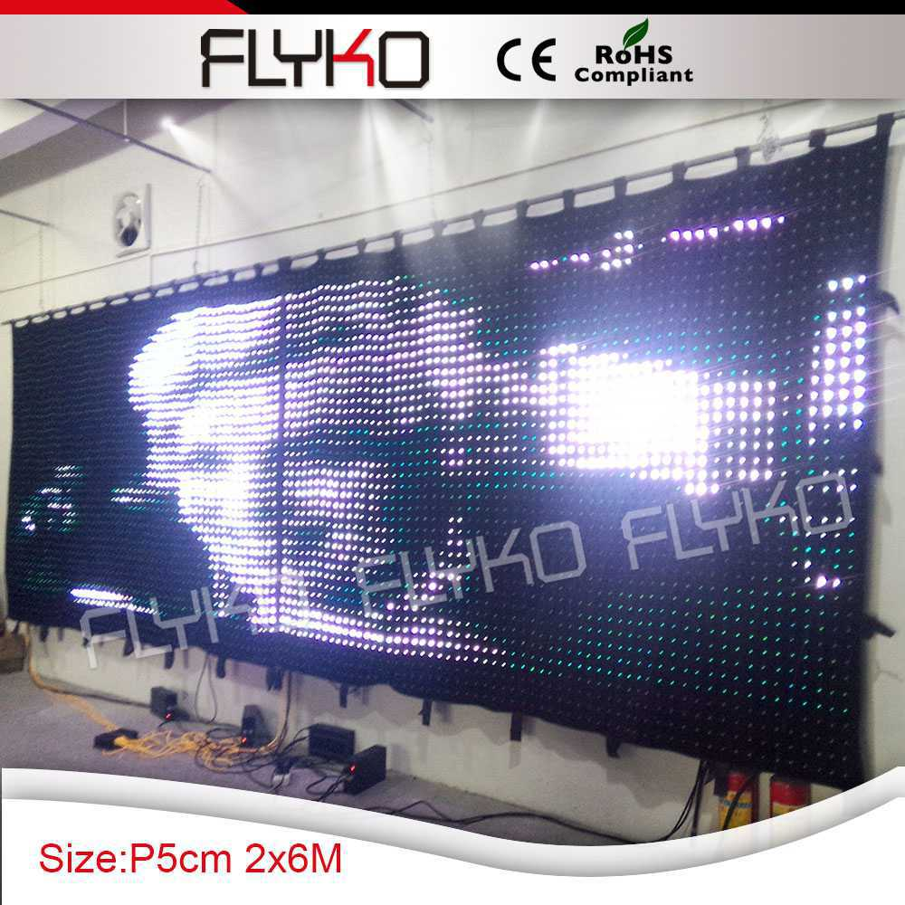 best shopping led video curtain with programmable pretty image