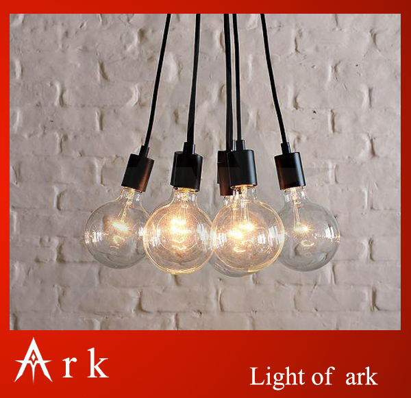ark light Contemporary Edison Chandelier Light Pendant Lamp Ceiling Hanging - 7 Bulbs Fixture free shipping coffee house mordern nordic retro edison bulb light chandelier vintage loft antique adjustable diy e27 art spider ceiling lamp fixture lights