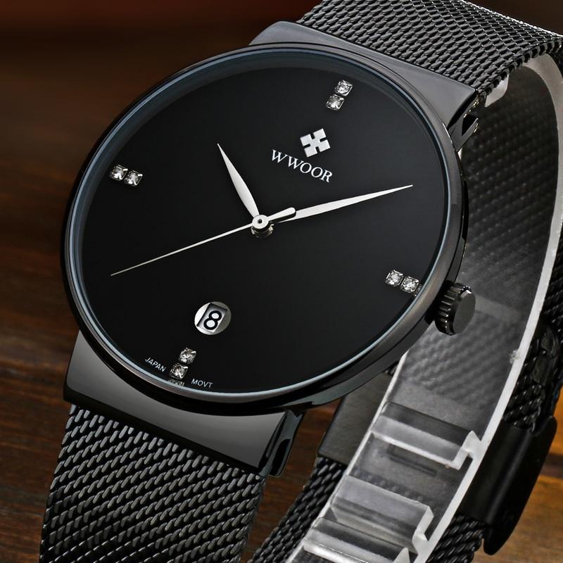 WWOOR μαύρο ρολόι ανδρών ρολογιών - Ανδρικά ρολόγια - Φωτογραφία 4