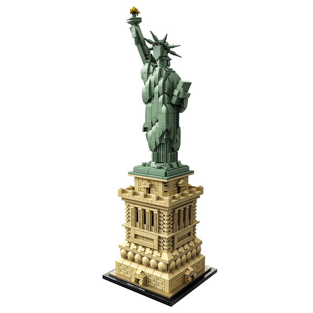 Architettura Statua della Libertà di New york Skyline Blocchi di Costruzione Kit Mattoni Set Classic City Modello Giocattoli Per Bambini Compatibile Legoe