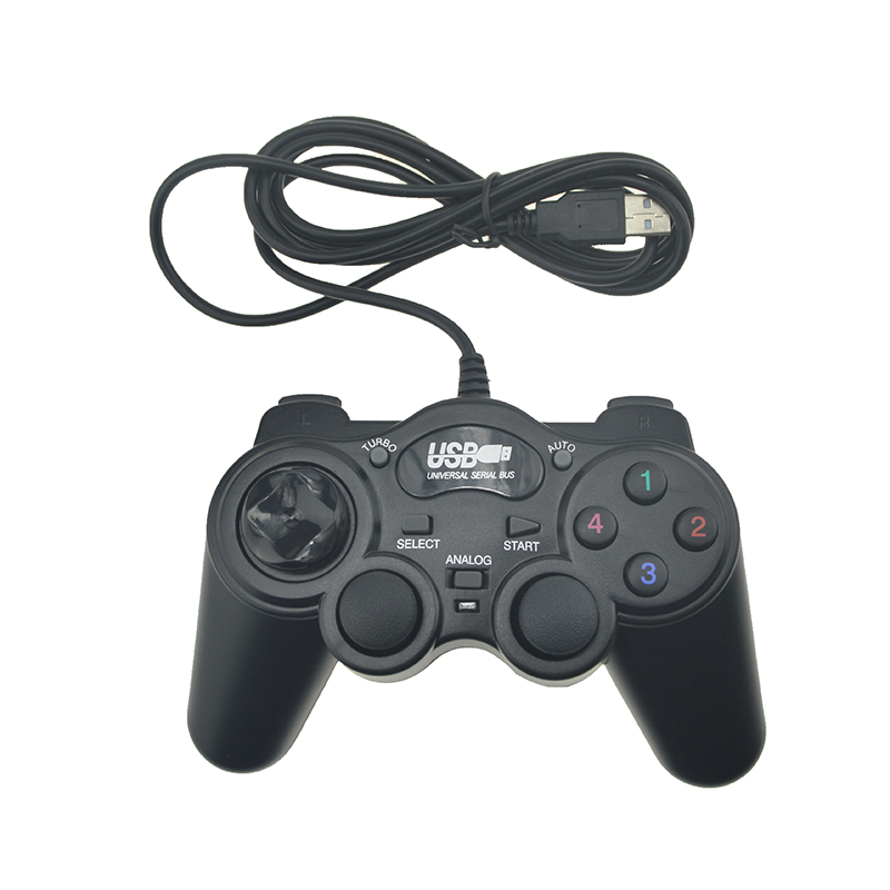 Черный проводной USB 2.0 геймпад ДЖОЙСТИК джойстика геймпад игровой контроллер для портативных ПК компьютер для Win7/8/10 XP/Vista, для геймпад ...