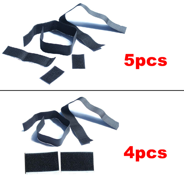 5pcs/4pcs Nylon Tape Auto Fire Extinguisher Sticker Car Trunk Storage Bag Hook and Loop Strap Stickers Car Styling Fixing Tape