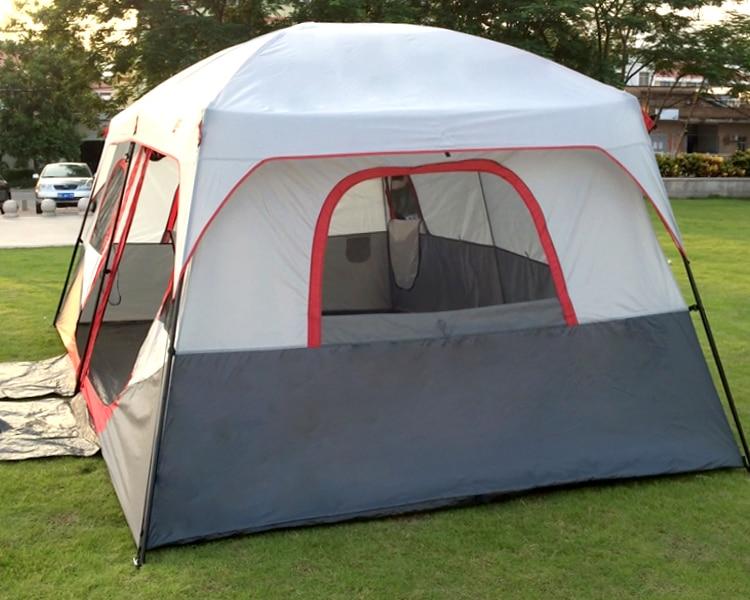3.2*2.1*1.9 m extérieur 3-5 personnes plage camping tente anti/preuve/pluie UV/étanche 2 chambres famille tente étanche en taille S - 5