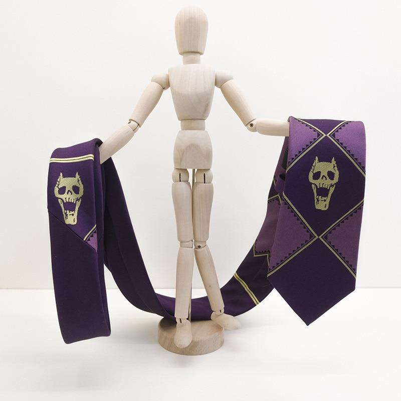 Anime jojo Kira Yoshikage Cosplay Tie KILLER QUEEN Skull Neck Heavens Door Cosplay Costume JoJo's Bizarre Adventure