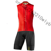 2019 New Summer Mavic Team Men's Triathlon Cycling Jersey sleeveless sleeve Cycling Clothing outdoor sport Ropa Ciclismo hombre