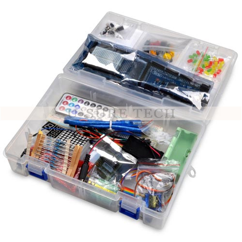 Starter Kit For Arduino UNO R3 Upgraded Version Learning Basic Suite For Uno R3 Board Stepper Motor 1602 LCD DIY Project frree shipping top selling high qualiy uno r3 starter kit 1602 lcd dot matrix breadboard led resistor hot selling
