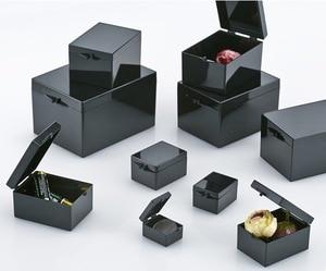 Image 1 - 10 pezzi/lottp 3.8x2.9x2.2 cm Nero Luce Schermatura Scatole Rettangolari Scatola di Campione di Piccoli Gioielli Scatola di Immagazzinaggio Bin