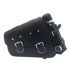 XL 1200 Motorcycle for Harley Sportster 883 XL1200 Side Saddle Bag Leather 2PC Black Water Triangle