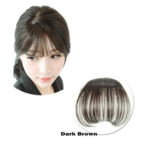 Hot Women Clip Bangs Hair Extension Fringe Hairpieces False Synthetic Hair Clips Front Neat Bang wyt77 5