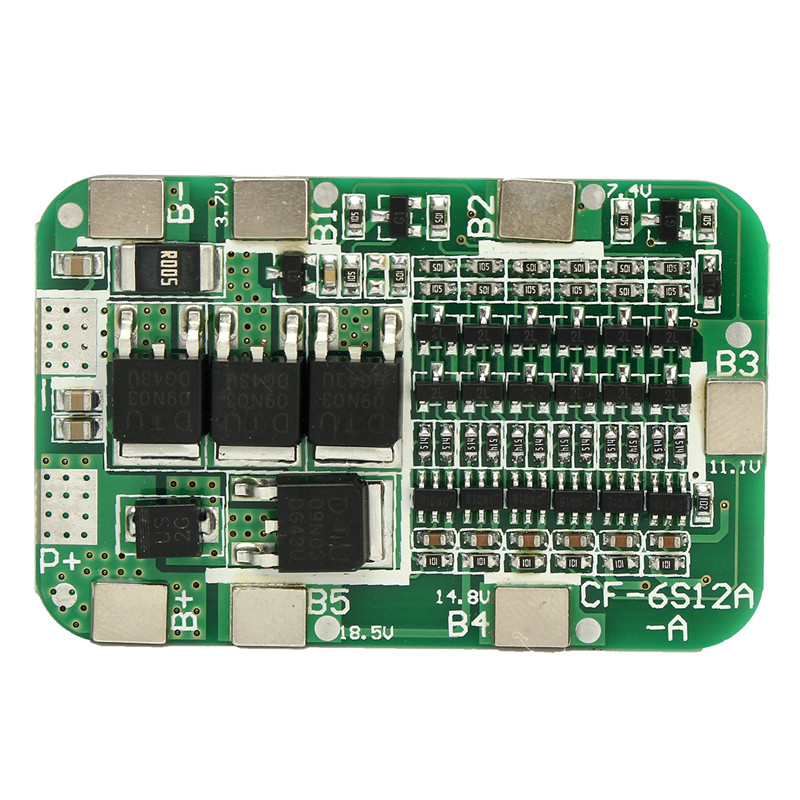Free shipping New Arrival <font><b>6S</b></font> 15A 24V PCB BMS <font><b>Protection</b></font> Board For 6 Pack 18650 Li-ion Lithium <font><b>Battery</b></font> Cell Module