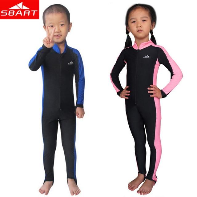 a1a330e1db SBART combinaison enfants Upf50 Anti UV Protection solaire Lycra peau  humide costumes garçon fille plongée en