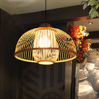 Pendant Lights Restaurant lamp simple creative bedroom lamps bamboo Japanese lantern new Chinese restaurant rooms LU728316