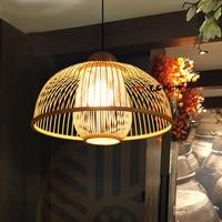 Pendant Lights Restaurant lamp simple creative bedroom lamps bamboo Japanese lantern new Chinese restaurant rooms LU728316