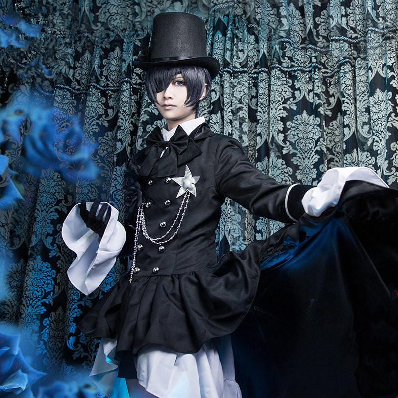 Kuroshitsuji Black Butler Ciel Phantomhive Cosplay costume Kostüm set Ball party