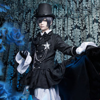 Top Quality Anime Kuroshitsuji Black Butler Ciel Phantomhive Cosplay Costume Women Men Role Playing Dress Fancy Ball Party Suit