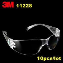 10 حزمة/وحدة 3M11228 نظارات السلامة نظارات واقية الاقتصادية خفيفة الوزن