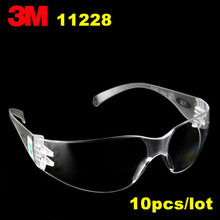 10pack/lot 3M11228 Safety Eyewear protective glasses economic light weight