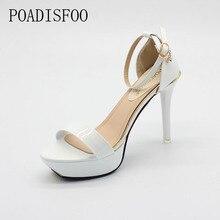 POADISFOO Rose Couleur Femmes chaussures mince talons hauts sandales plate-forme de Poisson Toe 11 cm talons chaussures d'été style. XXXY-1608