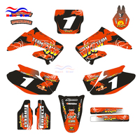 Customized Number Team GRAPHICS BACKGROUNDS DECAL STICKER For HONDA CR125 CR250 CR 125CC 250CC Dirt Pit Bike