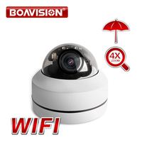 HD 1080P Wireless PTZ IP Camera CCTV Onvif 2.5 Inch Dome Outdoor Surveillance Security Cameras WiFi Motorized 4X Zoom P2P