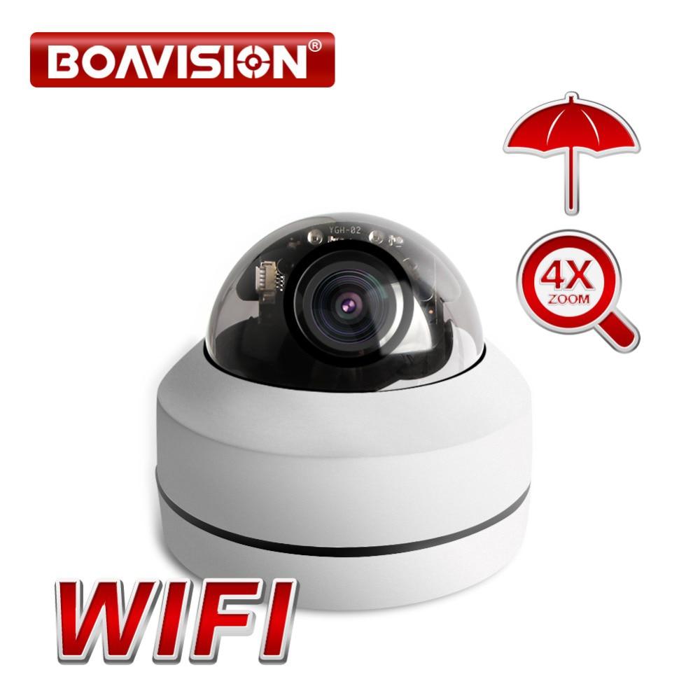 HD 1080P Wireless PTZ IP Camera CCTV Onvif 2.5 Inch Dome Outdoor Surveillance Security Cameras WiFi Motorized 4X Zoom P2P
