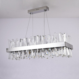 Image 2 - יוקרה עיצוב מודרנית גביש נברשת LED אור AC110V 220V cristal זוהר כרום חדר אוכל סלון מנורה