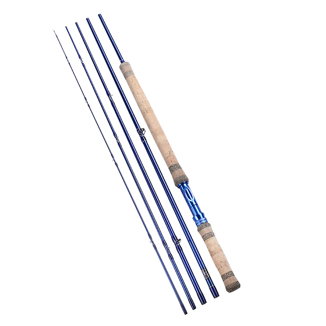 11.3ft/3.43M 5 Sections 7/8 IM7 Carbon Fly Fishing Rod Aluminum Reel Seat 206g/7.3oz Fly Rod w/ A-grade Cork Wood Handle