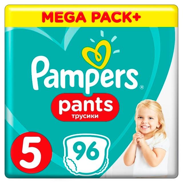 Трусики Pampers Pants 12-18кг, размер 5, 96 шт.