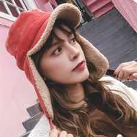 EOEODOIT Cappelli invernali e con pelliccia Delle Donne 2018 di Inverno Caldo di Spessore Aggiunto Caldo Protezione orecchie Berretti Visiera Del Cappello Per Le Ragazze