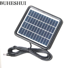 BUHESHUI 2W 9V Solar Cell Solar Module Polycrystalline DIY Solar Panel System For Battery Charger+DC 5521 Cable 3M Free Shipping
