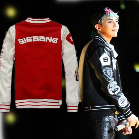 2016 Fashion Mens Baseball jackets Unisex kpop bigbang GD TOP ...
