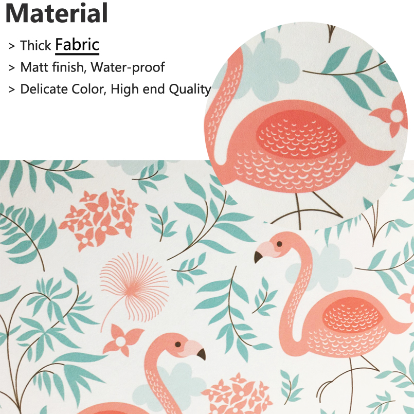 Tuya Art Wallpaper For Room Cute Pink Flamingo Pattern Princess And Kid Children In Wallpapers From Home Improvement On