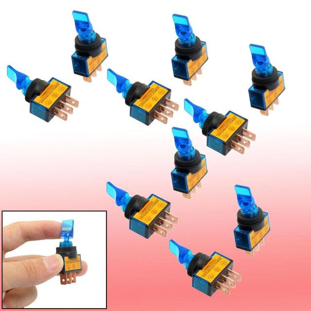 Cheap Toggle Switches SPST Contact Best 12 Volts 20 Amp ASW 14D-in ...