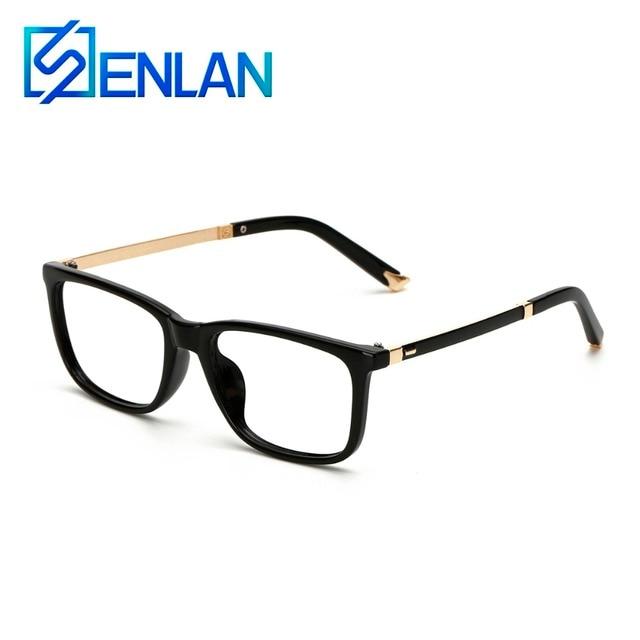 SENLAN TR Montura de gafas Retro de La Vendimia Ovalada Plaza Borde ...