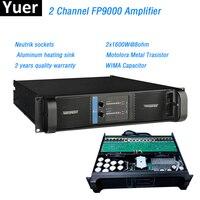 2 канала FP9000 усилитель линейный массив профессиональной Алюминий нагрева раковина звук Мощность переключатель усилителя