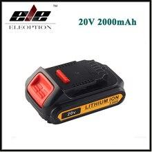 Ferramenta de Poder para Dewalt Eleoption 20 V 2000 Mah Li-ion Recarregável Bateria Dcb203 Dcb180 Dcb181 Dcb200 Dcb201 Dcb201-2