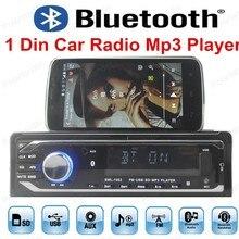 Высокое качество автомобиля Радио Аудиомагнитолы автомобильные Стерео 12 В плеер Bluetooth AUX-в MP3 FM USB 1 DIN с Дистанционное управление для автомобиль Радио