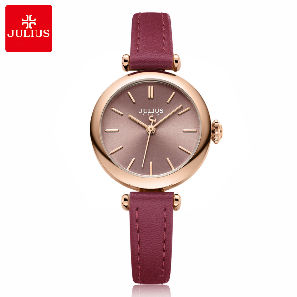 New Fashion Lady Women's Watch Japan Quartz Hours Simple Dress Bracelet Leather Clock Girl's Birthday Gift Julius julius ladies fashion quartz watch women bracelet clasp casual dress leather wristwatch japan quartz birthday gift ja 965