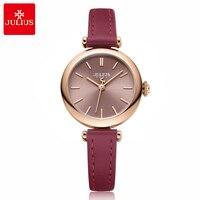 New Fashion Lady Women's Watch Japan Quartz Hours Simple Dress Bracelet Leather Clock Girl's Birthday Gift Julius