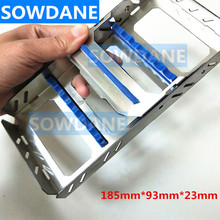 1 pcs High Quality Dental Sterilization Cassette Rack Tray Box for 7 Instruments instrument disinfection plate new aluminium sterilization tray with silicone mat dental surgical instruments