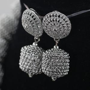 Image 4 - Yeni tasarım gümüş/altın boncuk takı seti kadınlar afrika moda takı aksesuar nijeryalı düğün boncuk seti QW1184